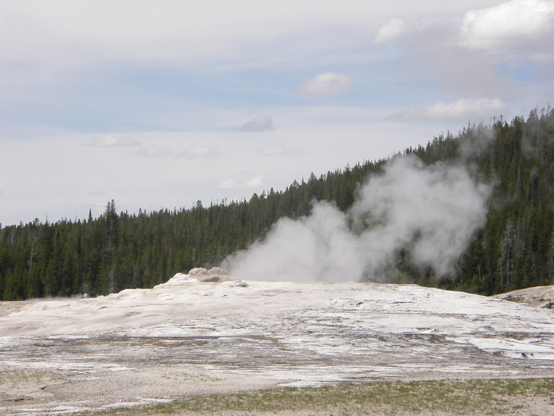 Old Faithful waiting to erupt.