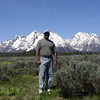 Ron and part of the Teton Range