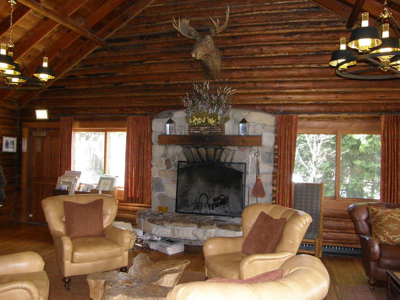Jenny Lake Lodge Reading Room.