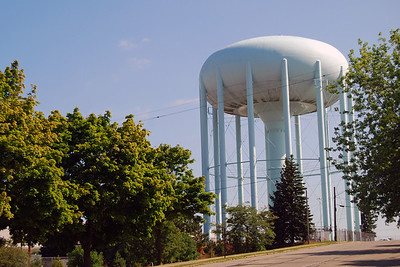 1044 Old Pontiac Motors water tower Pontiac Michigan