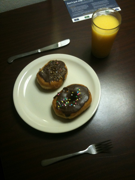 "004 Hollys half asleep breakfast order...""donuts"""
