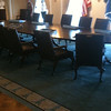 013 Model of the Clinton cabinet meeting room