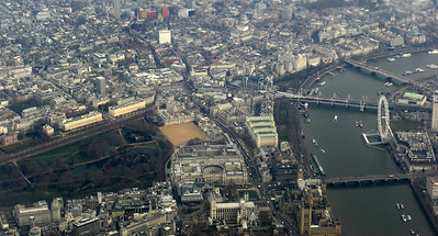 Parliament, Westminster Abbey, St James Park and The Millenium Eye.