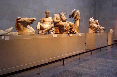 Jan, the Elgin Marbles,The British Museum, Thursday, march 18, 2010