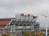 October 14, 2011 (Browns Stadium / Cleveland, Cuyahoga County, Ohio) -- Cleveland Browns Stadium with windmill