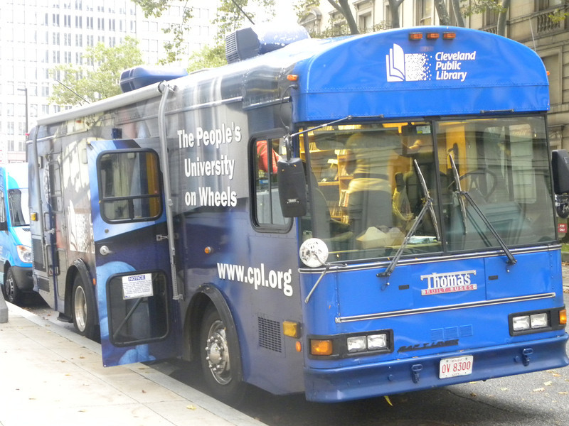 October 14, 2011 (Cleveland Public Library Bookmobile [parked behind the library] / Cleveland, Cuyahoga County, Ohio) -- Bookmobile