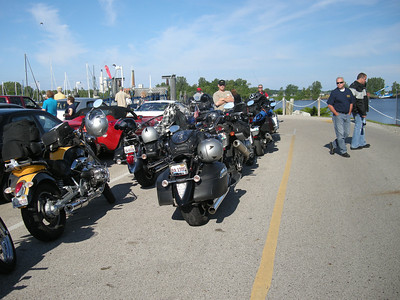 Bikes lined up for Ferry in Muskegon, MI