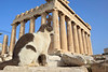 A cat at the Parthenon