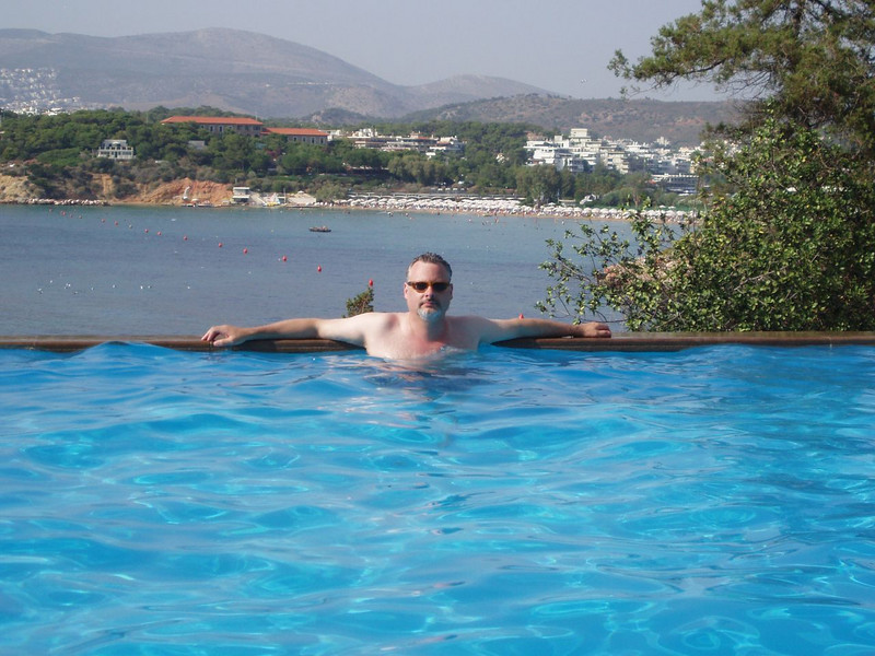 Not my infinity pool<br /> jamie in the Kotharis's hotel Infinity pool. I don't remember at which hotel they stayed. i think it was the W. <br /> <br /> dammit.