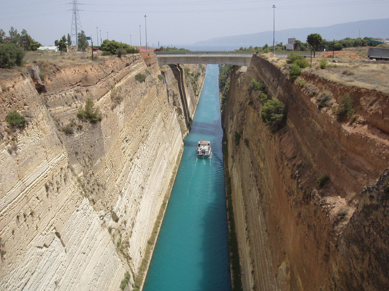 Corinth Canal <br /> Another shot of the godforsaken canal. <br /> ok, but that\'s what we were feeling at this point.