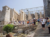 OH the throngs of hot, sweaty people.<br /> <br /> A Propylaea, Propylea or Propylaia (Προπυλαια) is any monumental gateway based on the original Propylaea that serves as the entrance to the Acropolis in Athens. <br /> <br /> The Propylaia were built by Mnesikles in 437-432 B.C. as a monumental tripartite entrance to the Acropolis, taking the place of a sixth century propylon of which traces can still be seen.
