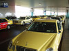 Cab Stand, Athens Airport <br /> June 22 2007.<br /> <br />  Oh look, Sachin, a Mercedes cab!! or 12.