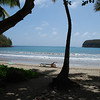 La Sagesse beach...one of the best beaches we have seen in our travels. Great for families!