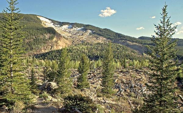 1970 - 2010: Gros Venture Slide Area, Jackson Hole, Wyoming