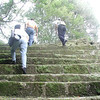 Tourists Walking up Pyramid Steps