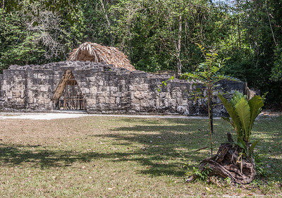 Mayan Temple with triangular entry