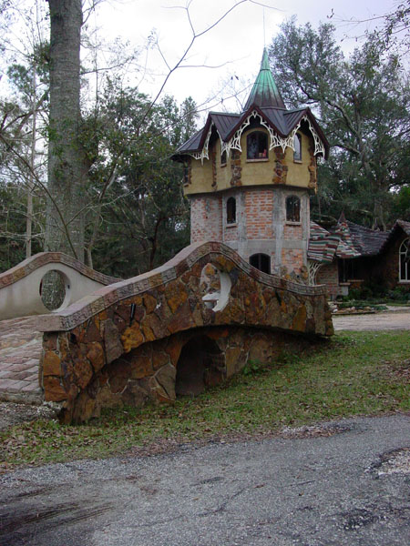 Wanda's cool find in Fairhope... A real fairy castle.
