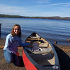 Flat Aimee canoes on Gunflint Lake, just like the trappers.