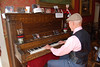 This gent was playing old timey songs on the piano at one restaurant in Silverton.