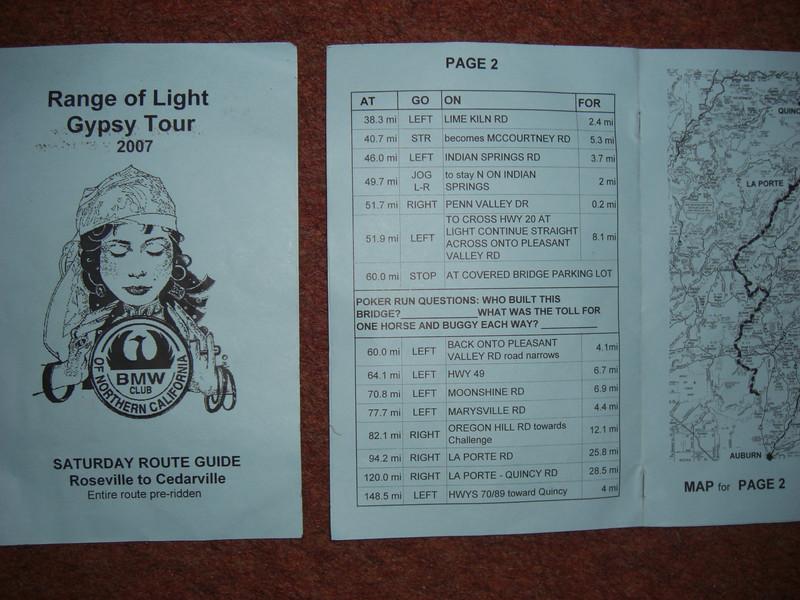 saturday's tour map
