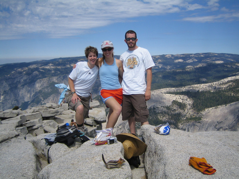 Hanging out at the top of Half Dome!