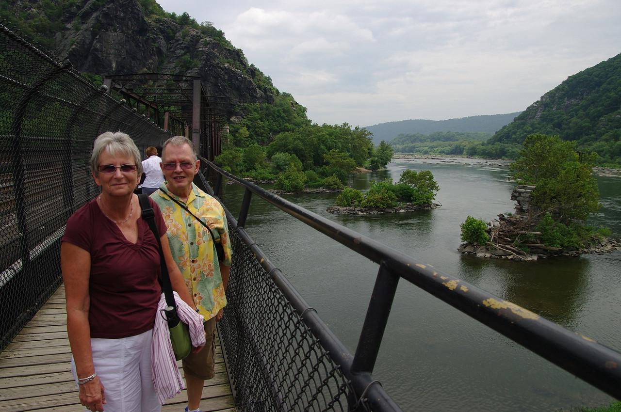 Fowlers on footbridge