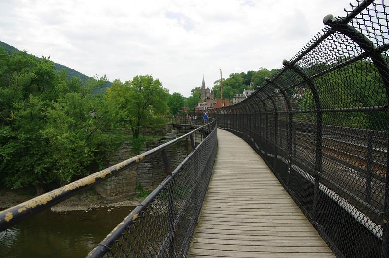 footbridge to C&O canal