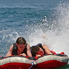 My son Keith (right) with his best friend Joseph having fun and cooling off on the tube.
