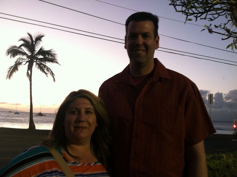 Sunset before we go inside for the last dinner before we go back home