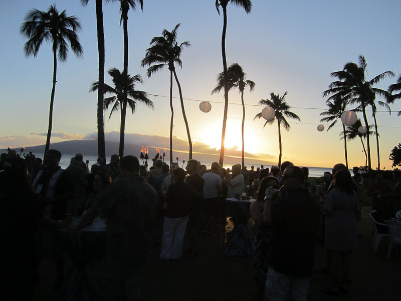 Sunset at the evening reception