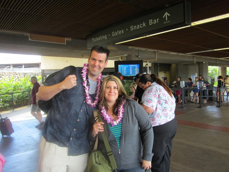 Aloha! Airport terminal in Maui
