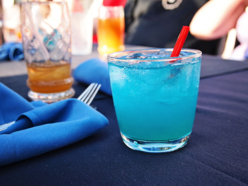 a Blue Hawaiian