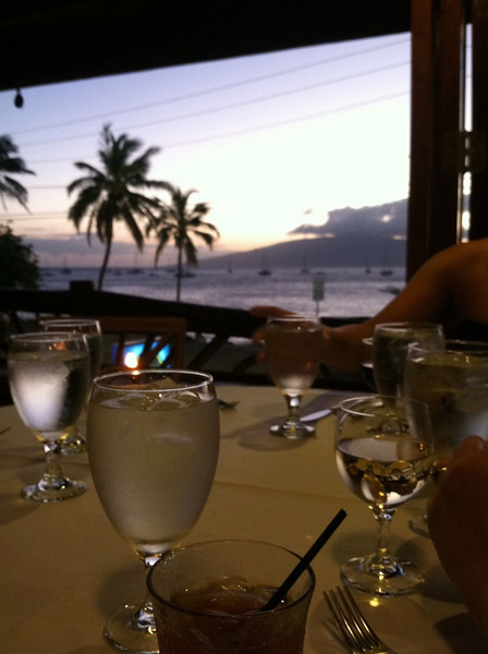 view of sunset before dinner