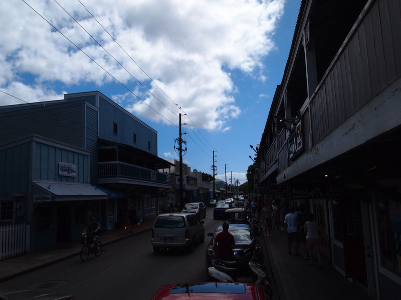 iPhone picture of downtown Lahaina