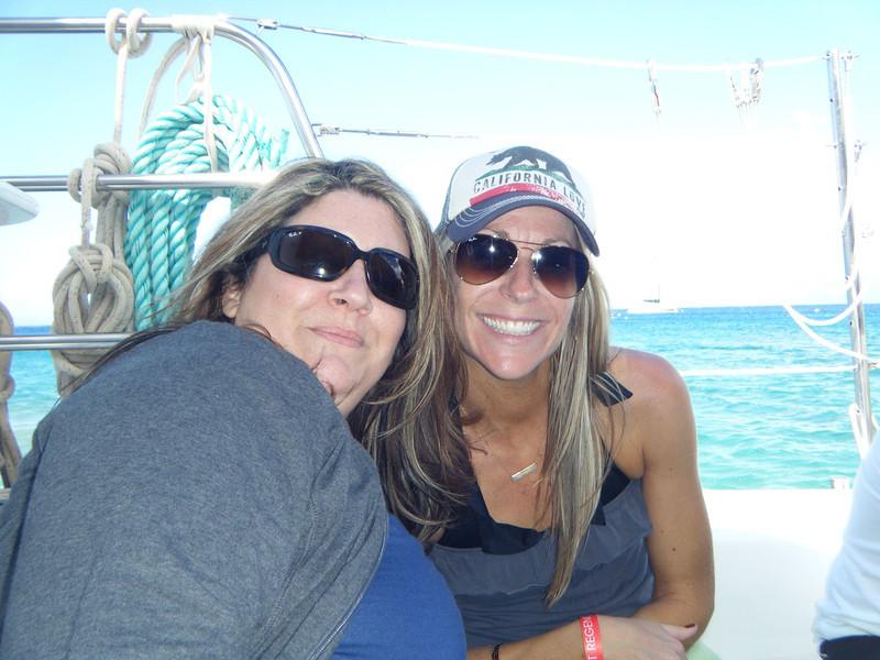 Cherie and Sarah. Sarah took good care of us the whole trip. Thanks Sarah :-D