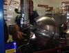 "October 17, 2013 - (Donkey Balls Candy factory / Kainaliu, Hawaii County, Hawaii) --  ""Donkey Balls"" Candy making machine"