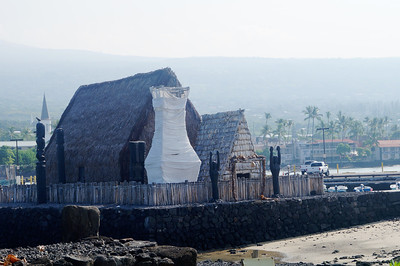 October 17, 2013 - (Marriott Courtyard / Kona-Kailua, Hawaii County, Hawaii) --  Ahu'ena Heiau [restored historical] Kamahameha I religious temple