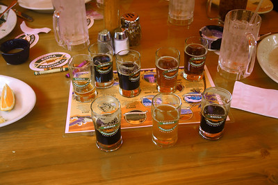 October 16, 2013 - (Kona Pub & Brewery, Kona Brewing Company / Kona-Kailua, Hawaii County, Hawaii) -- Kona Pub & Brewery (10) 5 oz. samplers of beer for David & Jonathon
