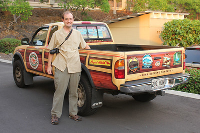 October 16, 2013 - (Kona Pub & Brewery, Kona Brewing Company / Kona-Kailua, Hawaii County, Hawaii) -- Jonathon with Kona Brewing Company truck