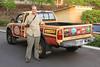 October 16, 2013 - (Kona Pub & Brewery, Kona Brewing Company / Kona-Kailua, Hawaii County, Hawaii) -- Jonathon with Kona Brewing Company truck