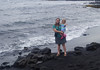 October 17, 2013 - (Punalu'u County [Black Sand] County Park Beach / Nīnole, Kaʻū District, Hawaii County, Hawaii) -- Katie & Ada