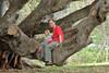 October 17, 2013 - (Whittington Beach County Park / Honu'apo Bay, Hawaii County, Hawaii) --  Ada & Jonathon on a tree