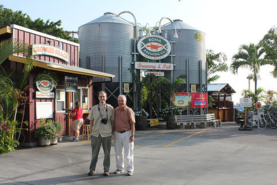 October 16, 2013 - (Kona Pub & Brewery, Kona Brewing Company / Kona-Kailua, Hawaii County, Hawaii) -- Jonathon & David outside Kona Brewing Company