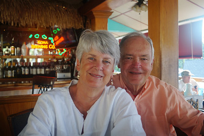 October 17, 2013 - (Splasher's Grill / Kona-Kailua, Hawaii County, Hawaii) -- MaryAnne & David at the Splasher's Grill in Kona for breakfast