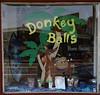 "October 17, 2013 - (Donkey Balls Candy factory / Kainaliu, Hawaii County, Hawaii) --  ""Donkey Balls"" Candy factory window"