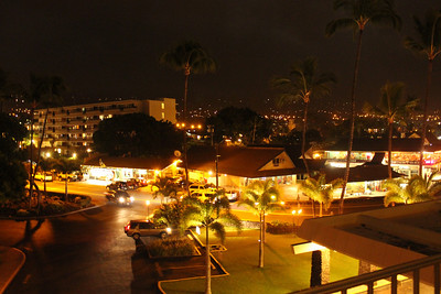 October 16, 2013 - (Marriott Courtyard / Kona-Kailua, Hawaii County, Hawaii) -- Night view from our Marriott Courtyard King Kamehameha's Kona Beach Hotel