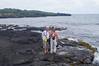 October 17, 2013 - (Punalu'u County [Black Sand] County Park Beach / Nīnole, Kaʻū District, Hawaii County, Hawaii) -- MaryAnne & David on the slippery lava rocks