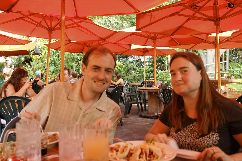 October 16, 2013 - (Kona Pub & Brewery, Kona Brewing Company / Kona-Kailua, Hawaii County, Hawaii) -- Jonathon & Katie at Kona Pub & Brewery
