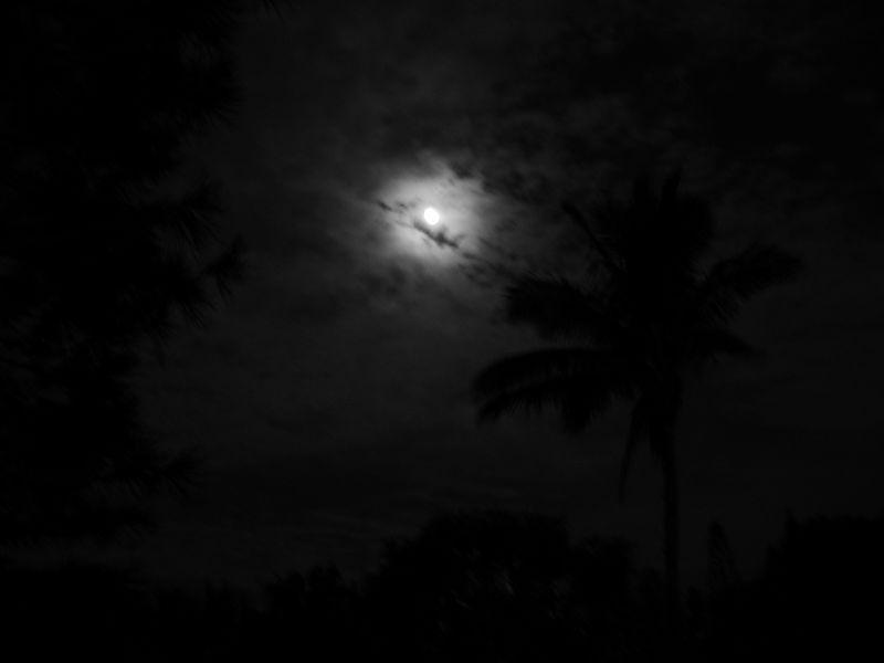 Moon over Kailua