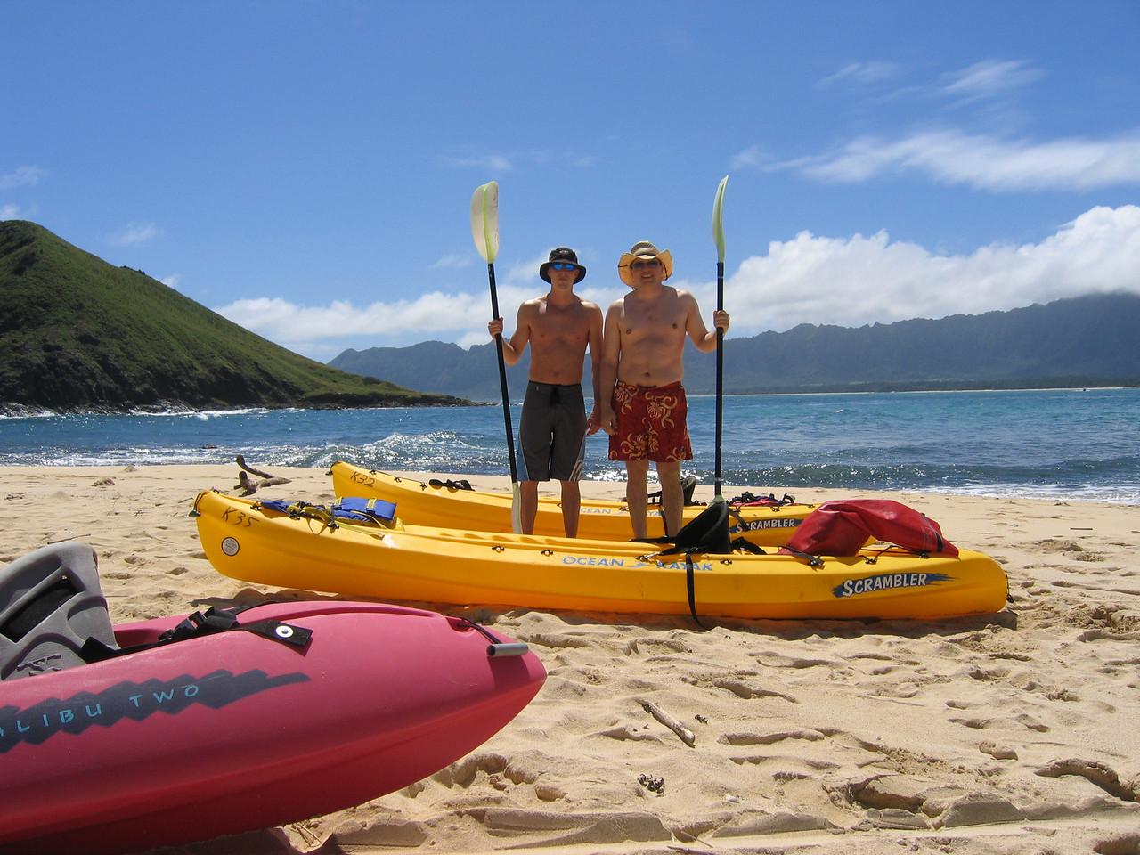 Real men kayak